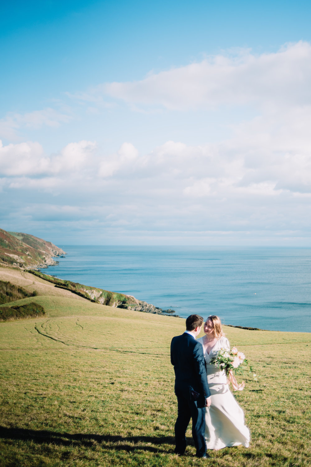Cliff top ceremony in Cornwall