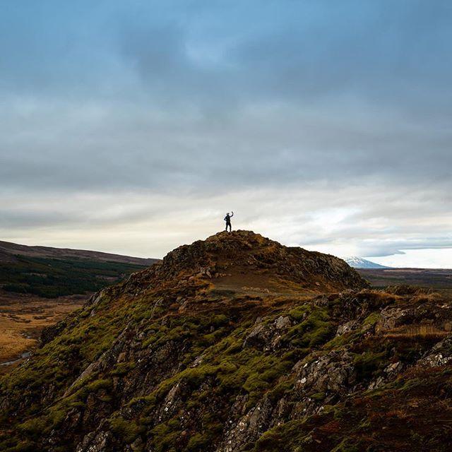 The massive scale of #Iceland. Mr. @crleveille, exploring.  #natgeo #sonyalpha