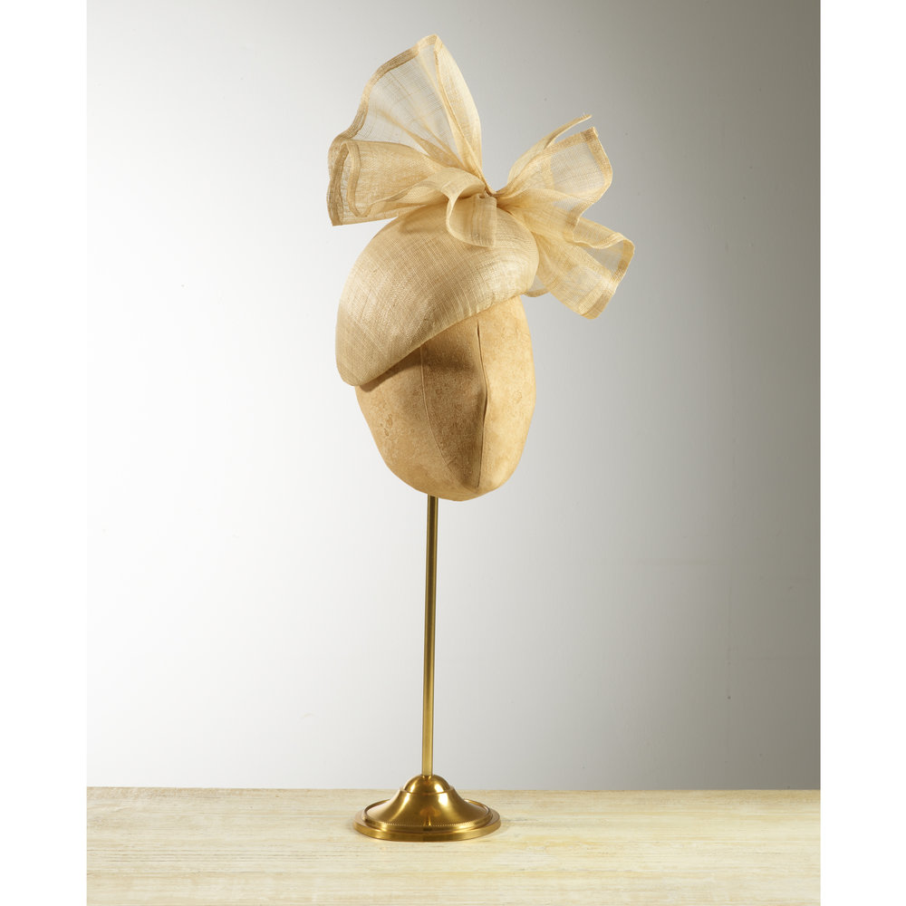 AGAVE (Natural) - £75  Natural pinokpok beret headpiece with matching bow.