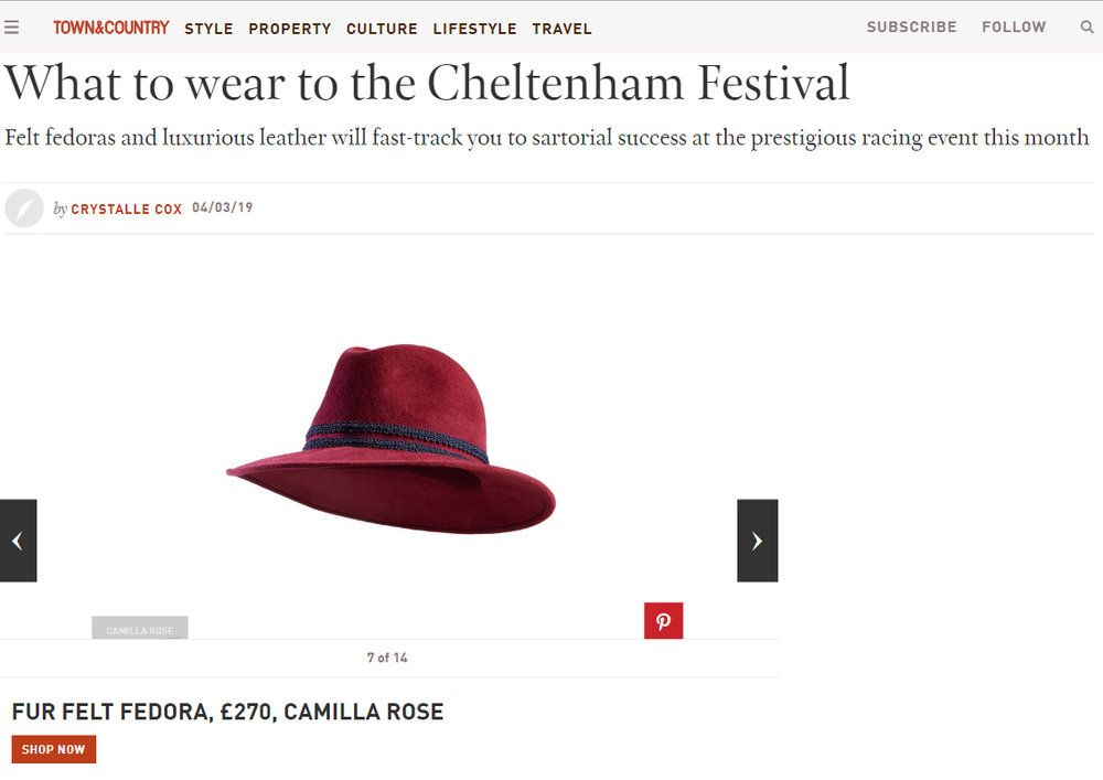 Town & Country Online - 4th March 2019  (Dusk Fedora Burgundy)