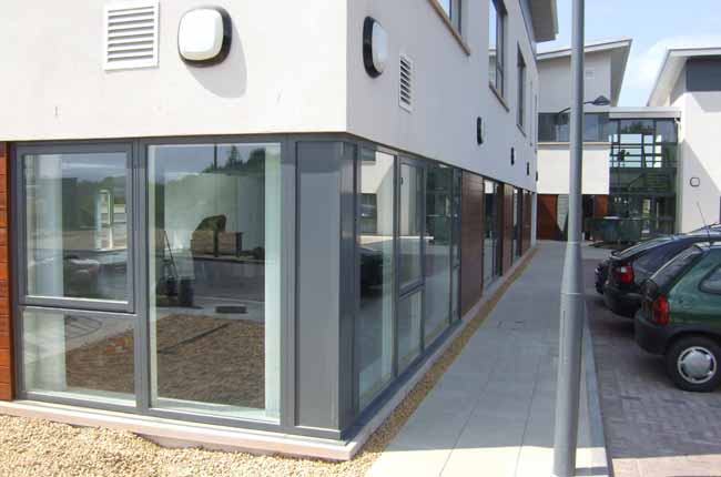 Aluclad  - Contemporary design with powder coated Aluminium externally and Wood on the inside