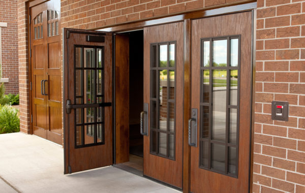 Wooden  - Traditional timber doors offering an elegant solution