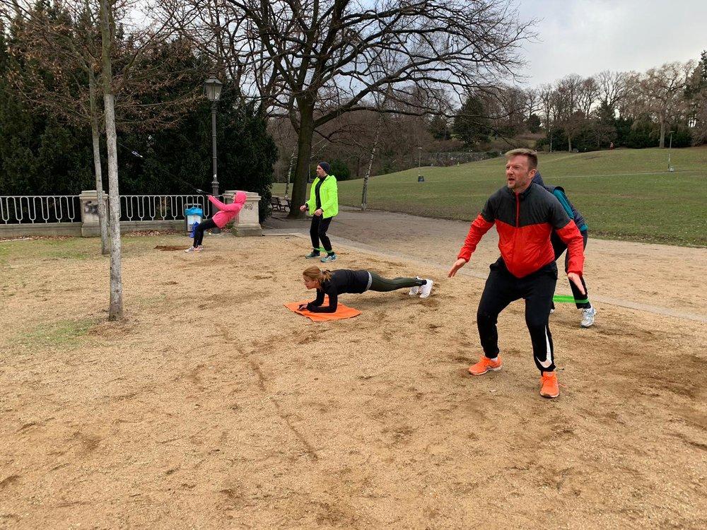 Hurra, unser erstes Bootcamp in 2019 wieder draußen im Viktoria Park