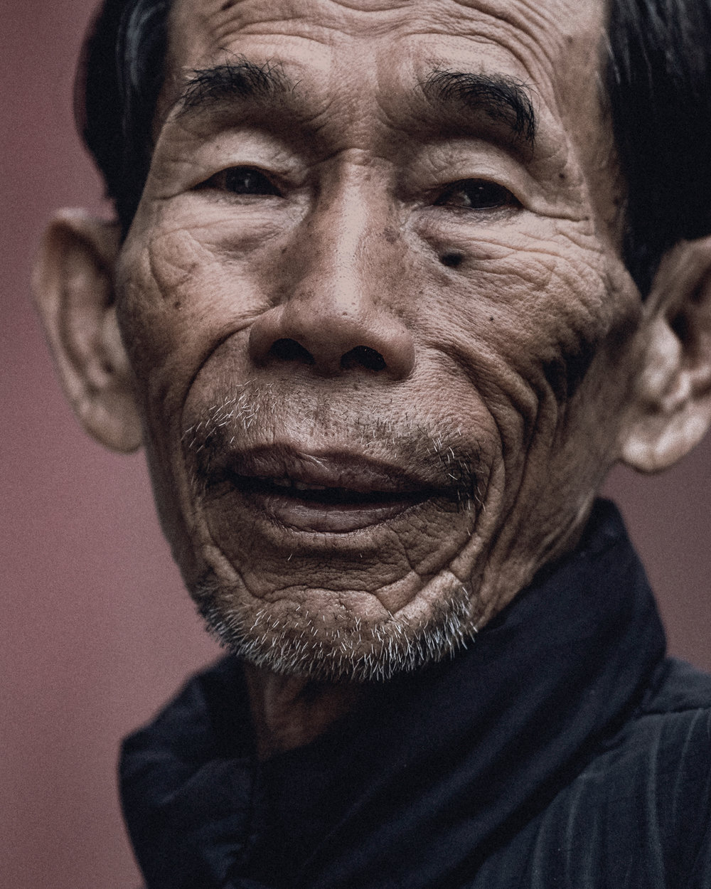 Portrait of a local man in a village near Hoi An.