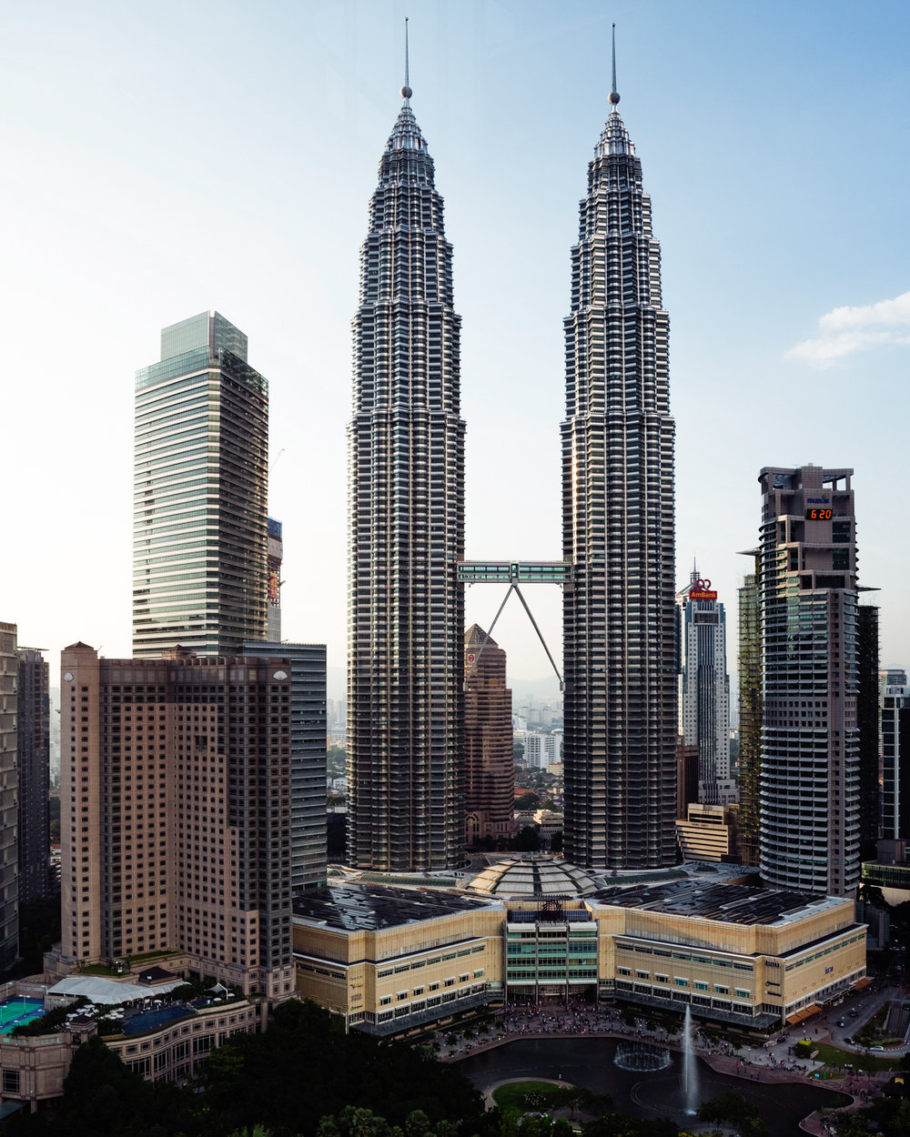 The Petronas Towers.