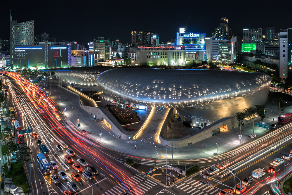 The Dongdaemun Design Plaza.