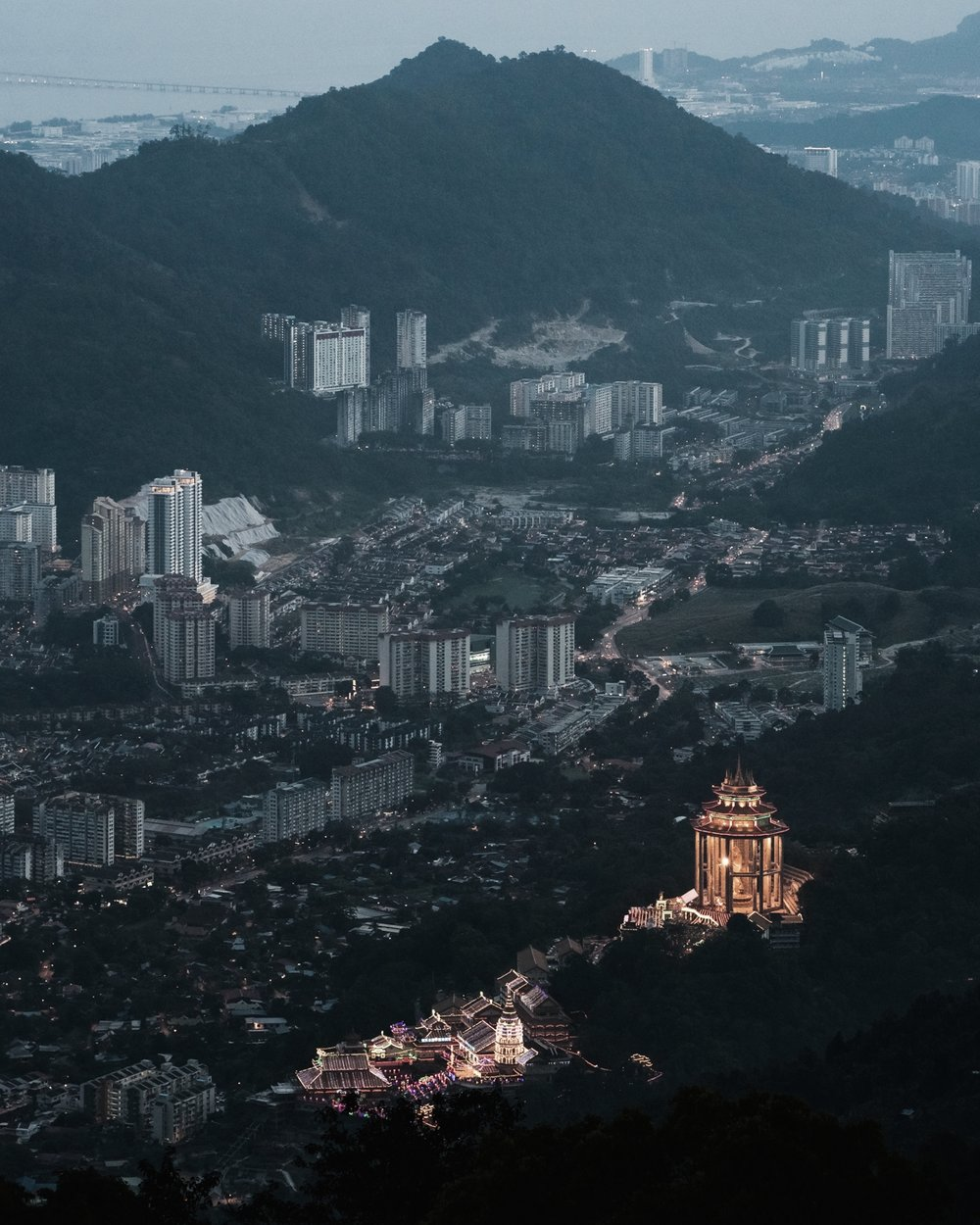 Kek Lok Si Temple & Penang view.