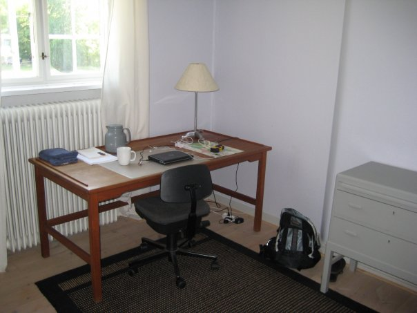 My writing table in Viborg, Jutland, 2009