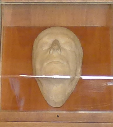 Death mask from February 23, 1821