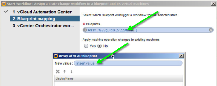 "Clicking ""Insert Value"" above, will bring up a dialog allowing you to select the Blueprints you wish to assign."