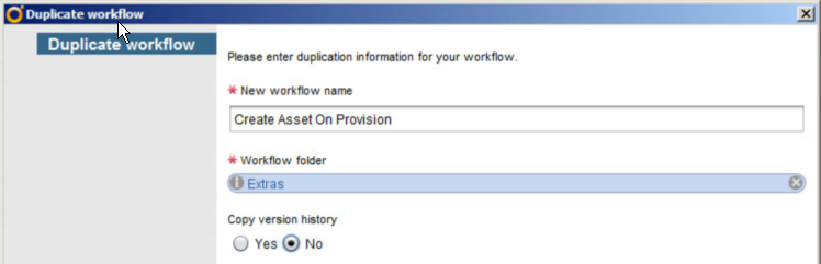Give it a name and copy it somewhere to group your custom Workflows