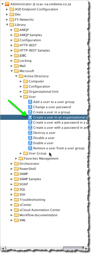 "The built-in Workflow ""Create a user in an organizational unit"" allows us to create a user with a blank password"