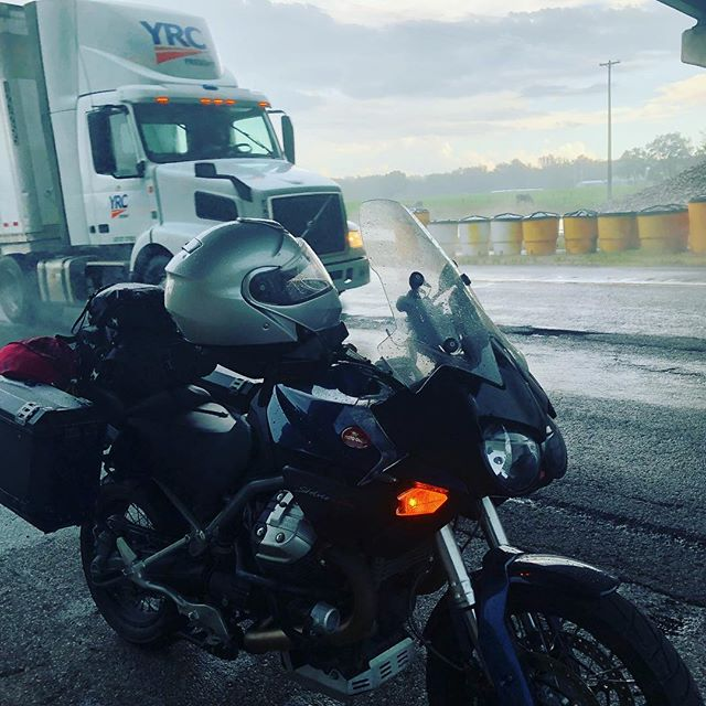 Scattered T-Storms. Time under a bridge...#motoguzzi