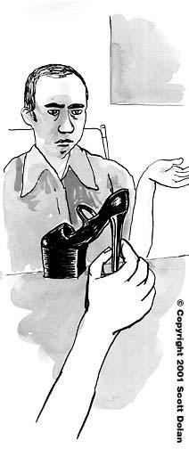 Mancuso and shoe