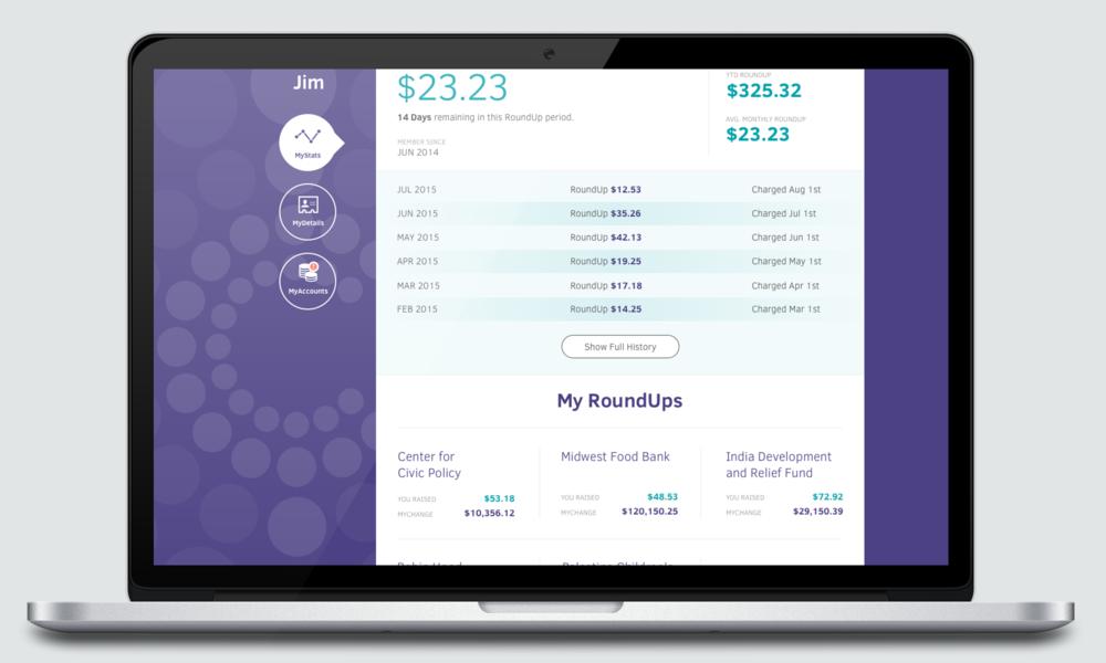 MyChange  Frictionless donation platform   • Product Design • Experience Design