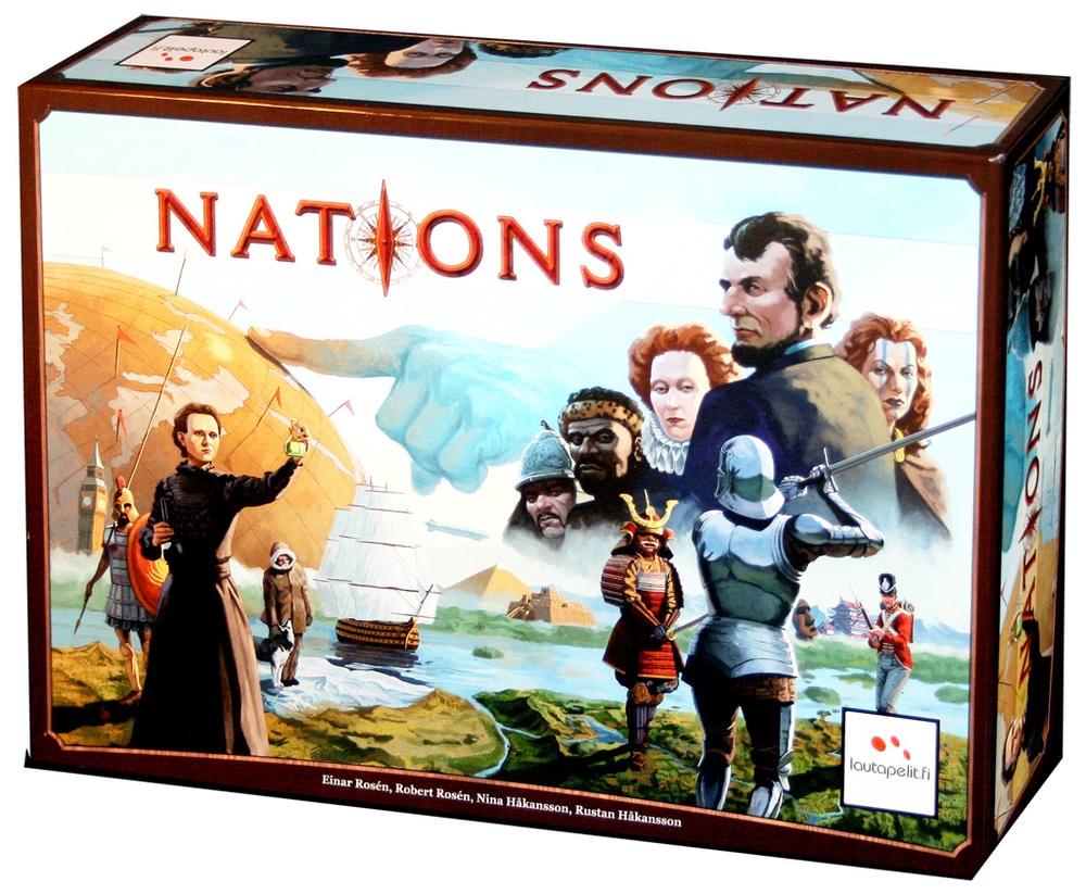 On the cover I see Scotland, America, England, Japan, France/Poland and even Inuits. Can I play these Nations I ask excitedly? No...