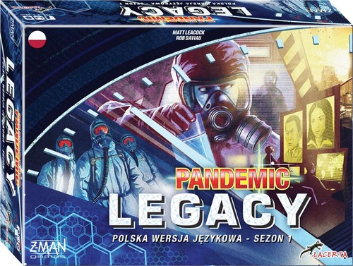 Pandemic: Legacy Season one has two different covers: blue and red. But red is a bit rubbish as a colour so we're only showing blue. And that's like, an objective fact.
