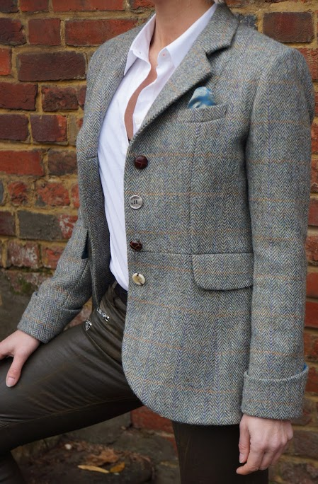 buttons tweed jacket