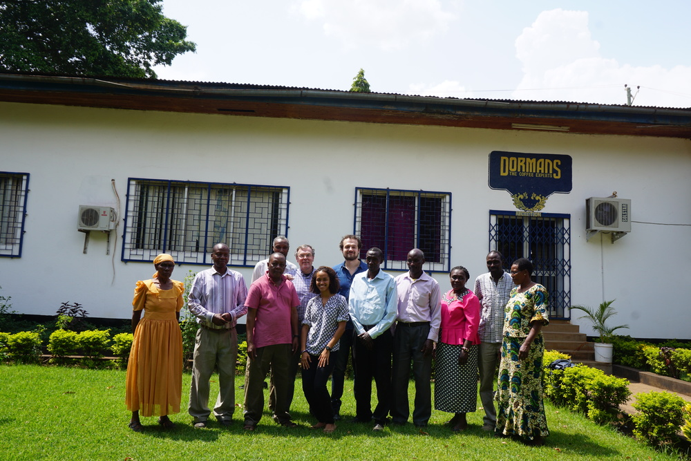 The Aranga Group after their first cupping and visit to Dormans, the exporter we started working with for the 2016 crop.