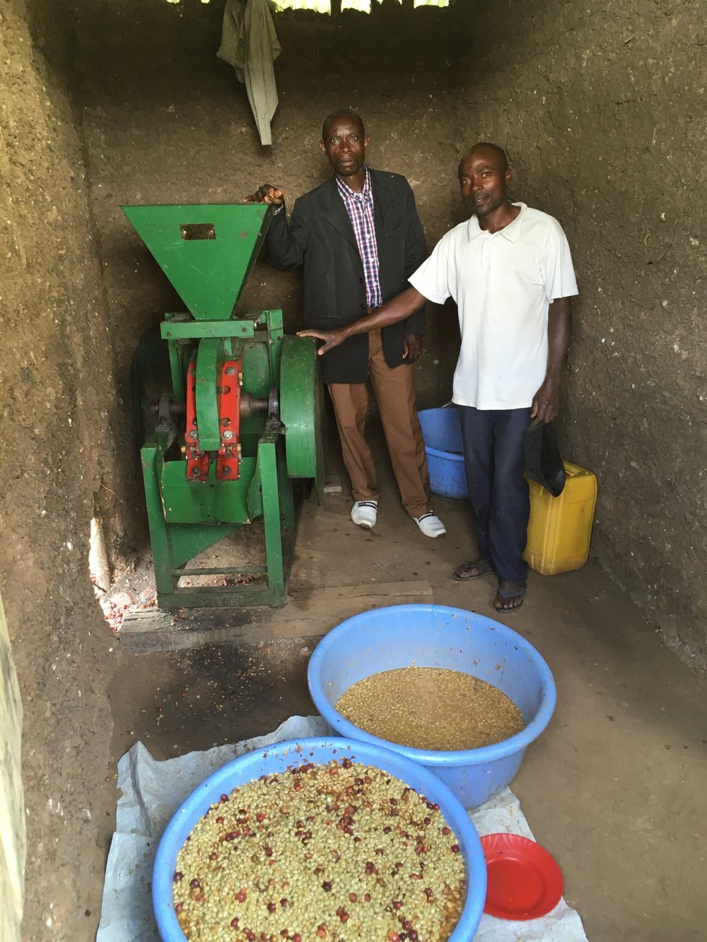 Milling at Ngula micro mill.