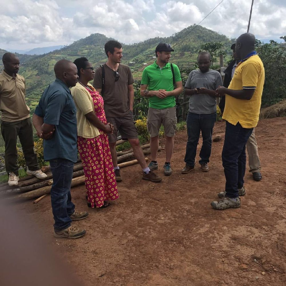 Doubleshot's Jaroslav Tucek visiting Coko together with Misozi's Kevin Nkuzimana