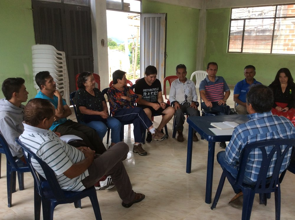 The meeting where the results of the cupping for best quality with all the farmers were shared.