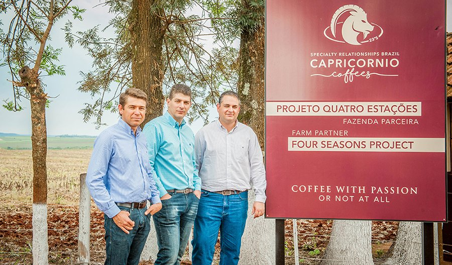 From right to left, the three founders of Capricornio: José Antônio Rezende, Edgard Bressani and Luiz Roberto Saldanha.