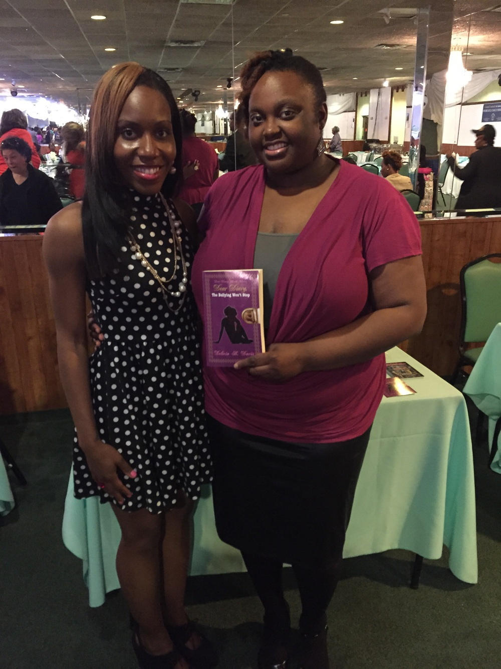 Author, Delicia B. Davis and me, Crystal Haynes of CrystalSays.com