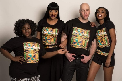 Egypt and her models showing off Chubiiline t-shirts.