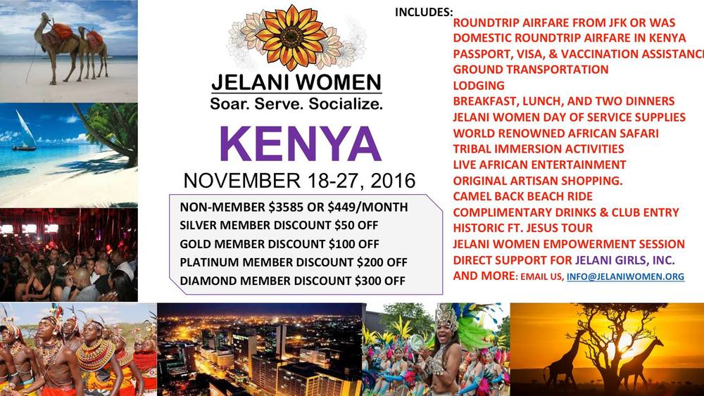 Jelani Women service trip to Kenya, Africa November 2016, see JelaniGirls.org for more info.
