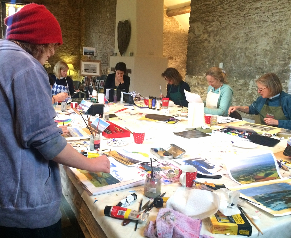 Basic Acrylic Workshop at Stourton Caundle
