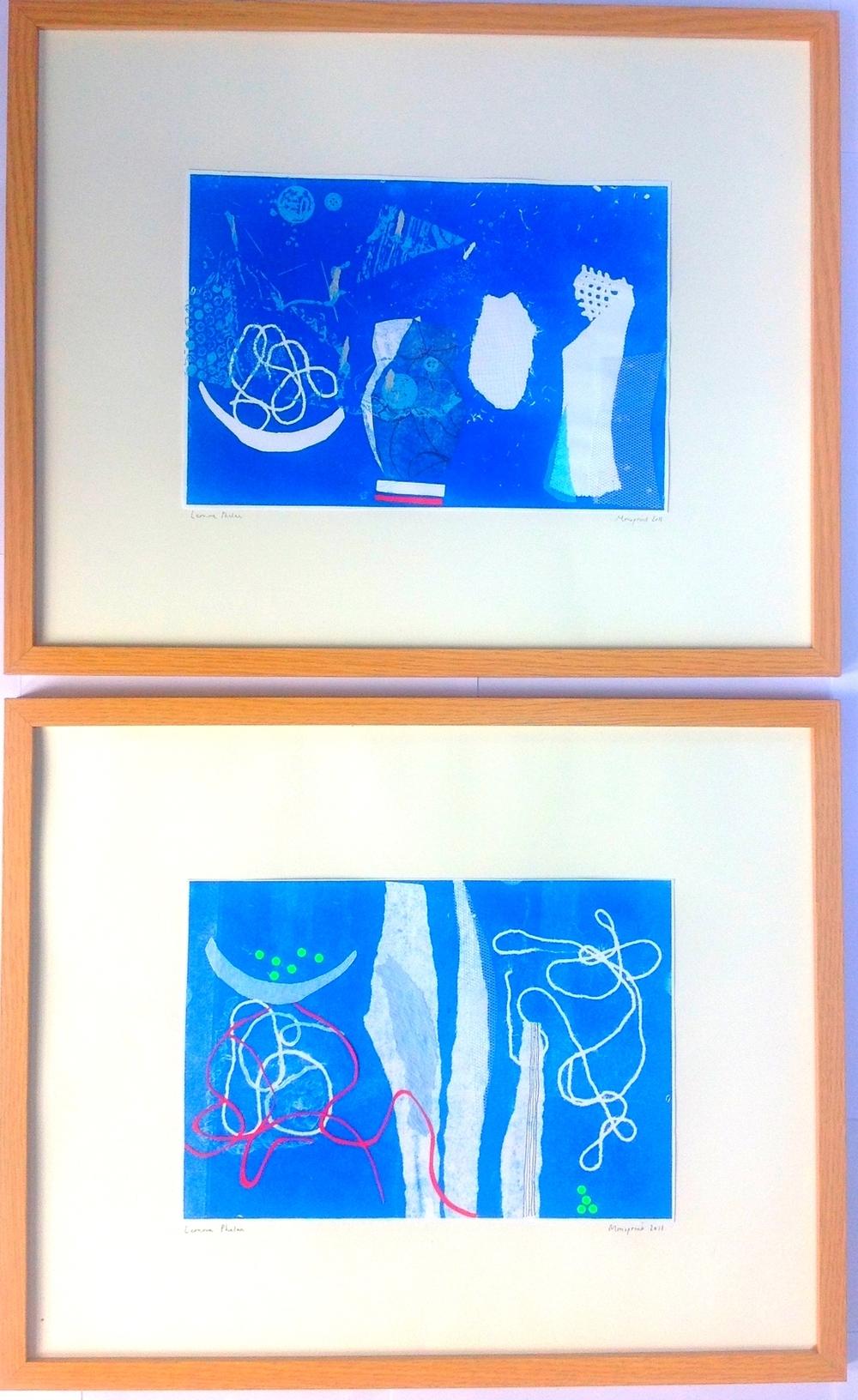 mono-print & collage