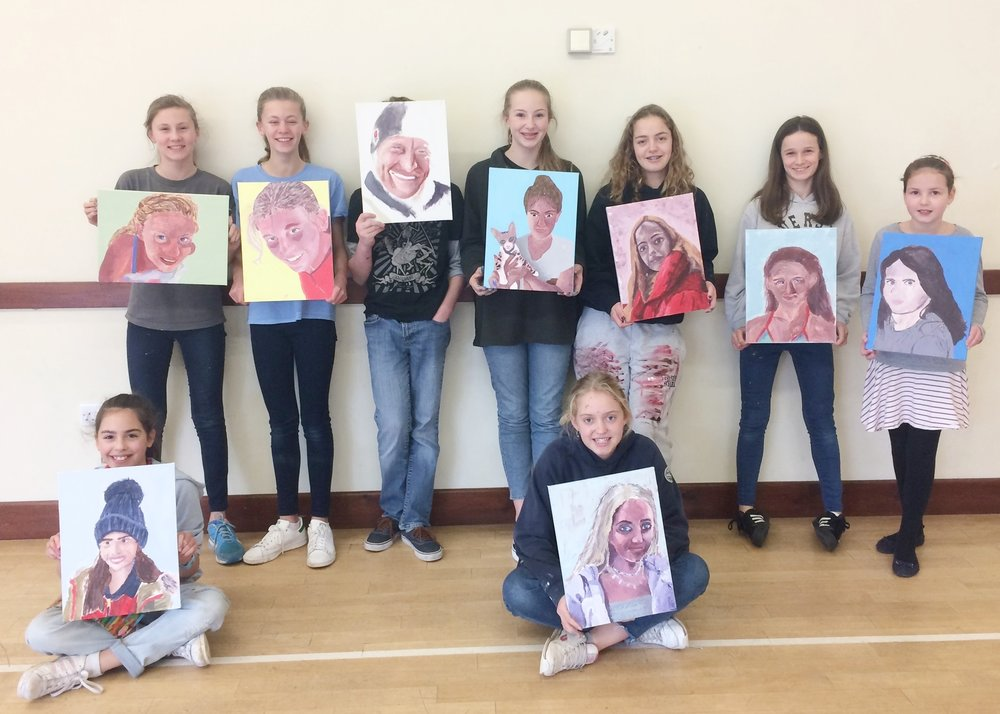 Quince Art School students - 'Self Portraits' work in progress