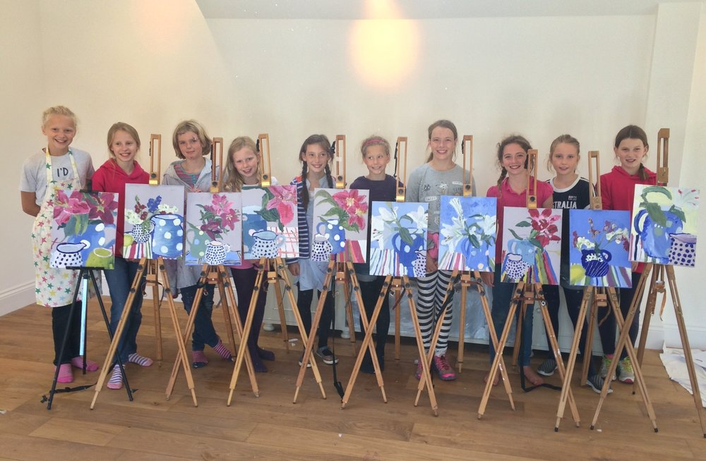 Quince Art School students - 'Still Life' painting workshop