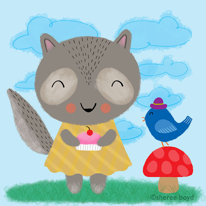wee raccoon and friend