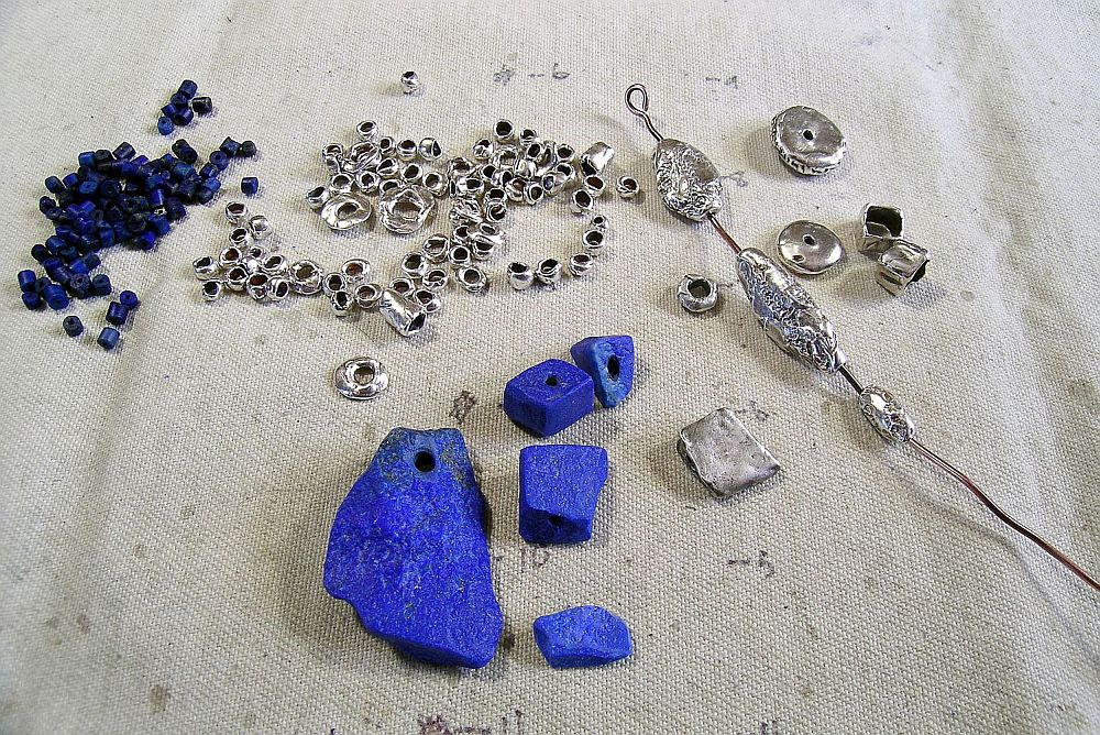 lapis and fine silver components kathy van kleeck