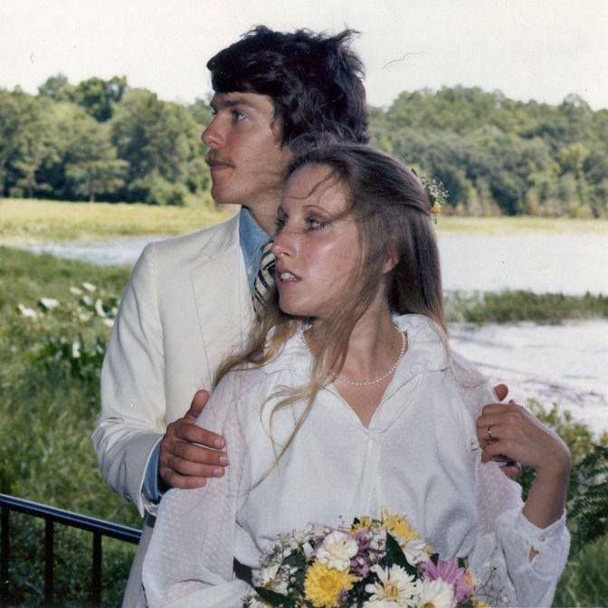 We were married at Maclay Gardens State Park in Tallahassee ... golly we were young!  btw ... as you can see, I used to wear makeup and tweeze my eyebrows!