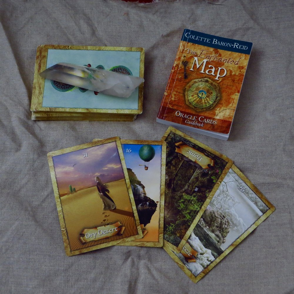 today's Enchanted Map Oracle Card reading ...