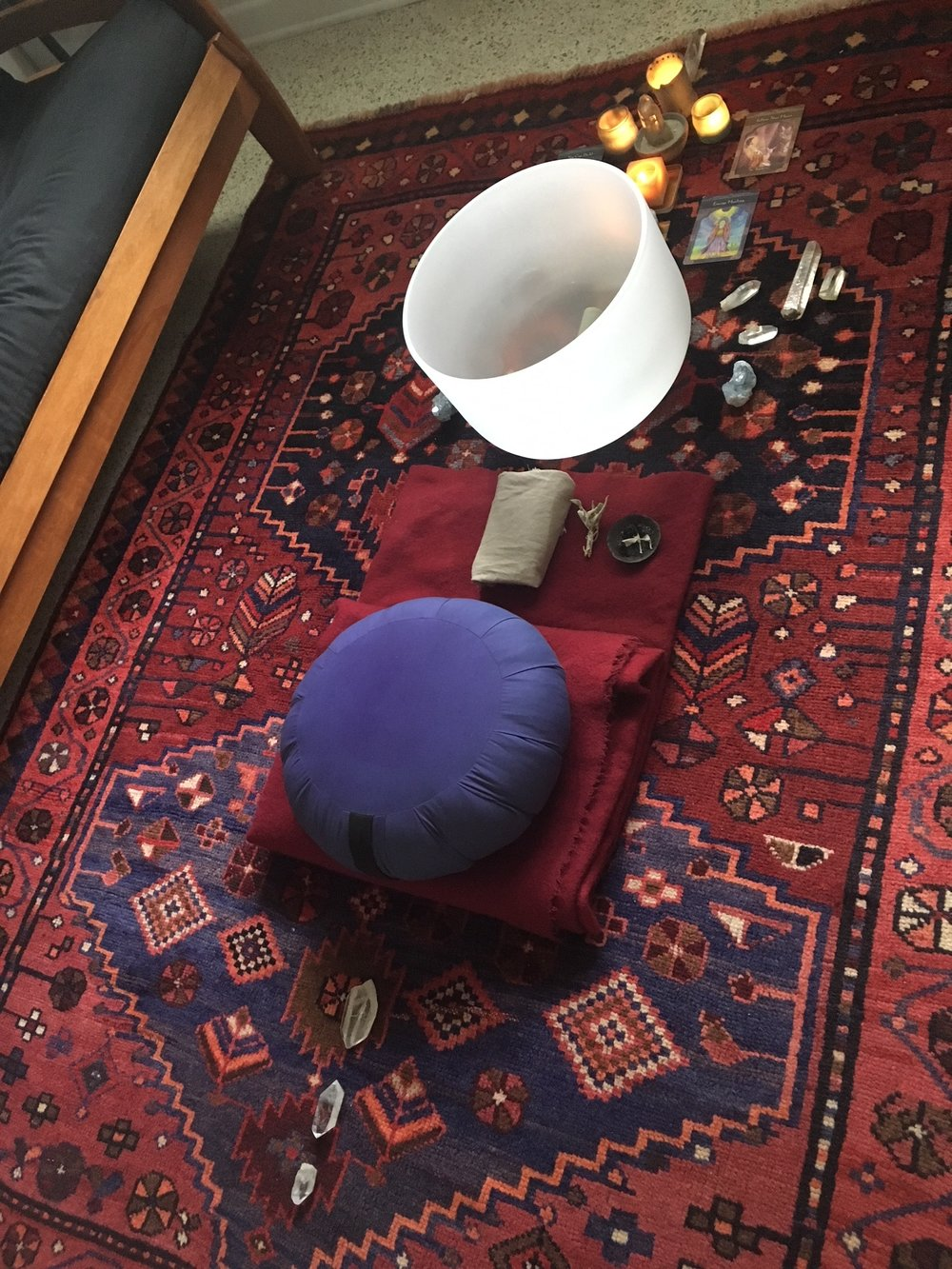 meditation and monster crystal grid layout
