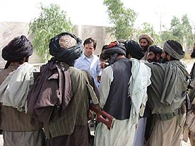 Dan Harris reporting from Kandahar. Harris was one of two western reporters in the city during U.S. bombardment.