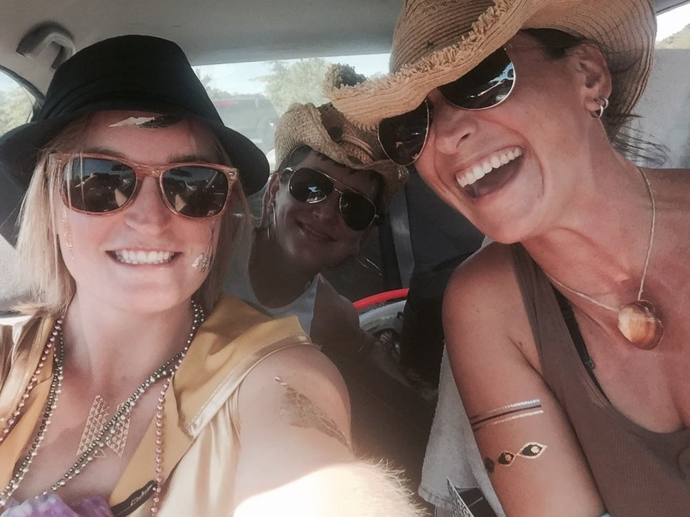 Always On The Road - Anna May pictured here with friends on a different road trip.