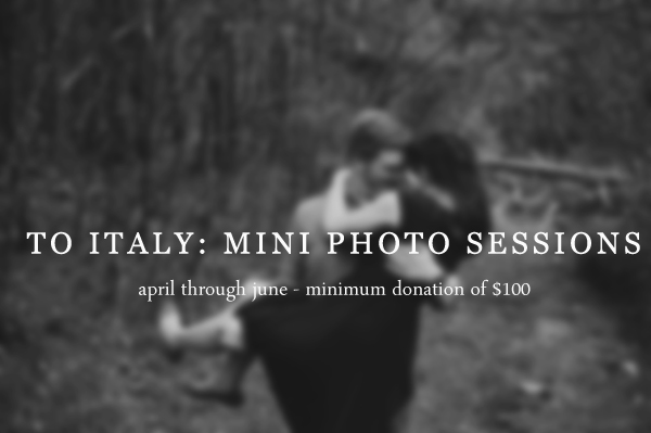 To Italy: Photo Sessions