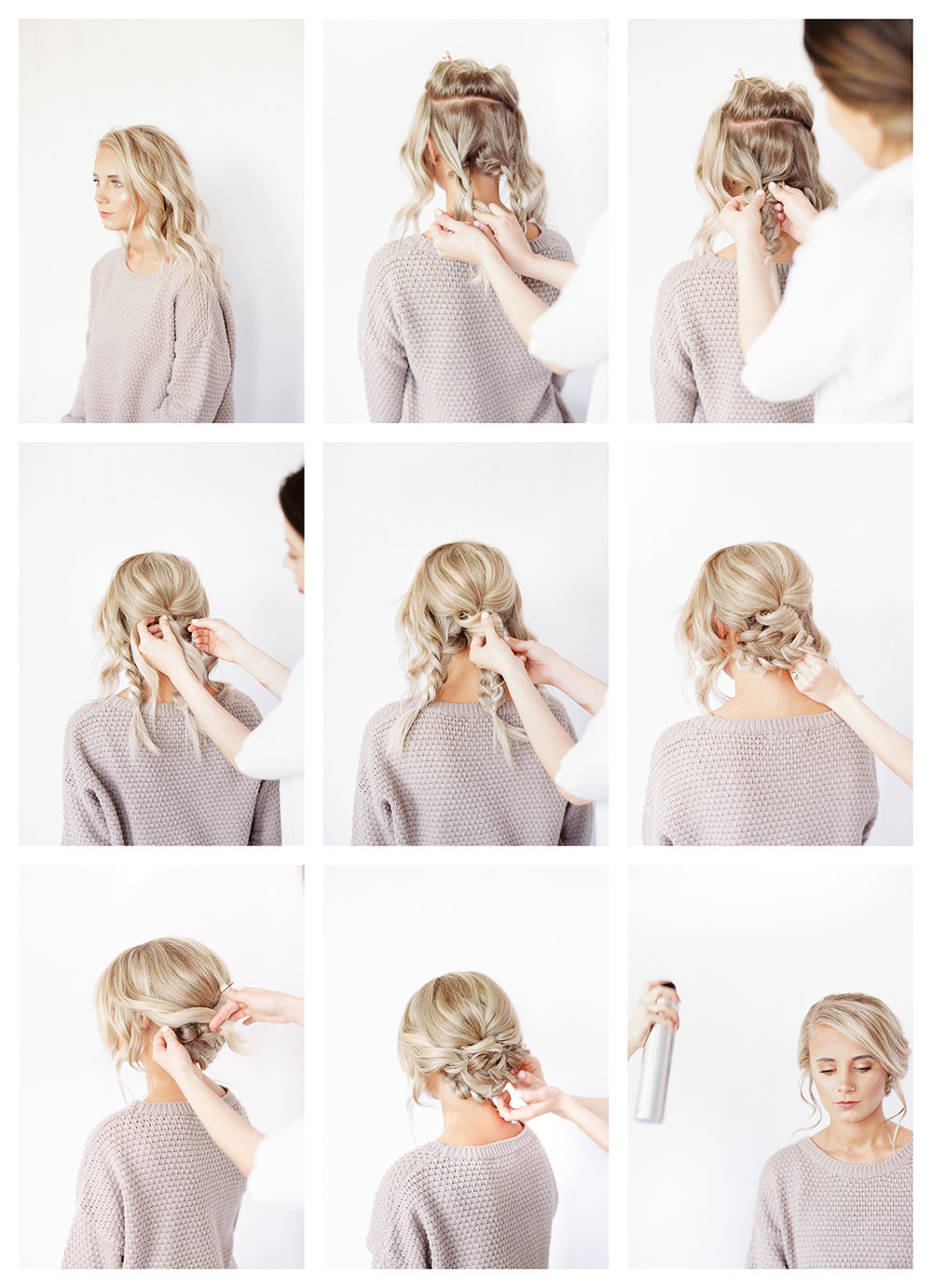 romantic braided updo wedding bridal hairstyle tutorial DIY // braid elegant hair www.hannahforsberg.com-atlanta-wedding-photographer-hair-makeup-tutorial-diy-romantic-updo-collage.jpg