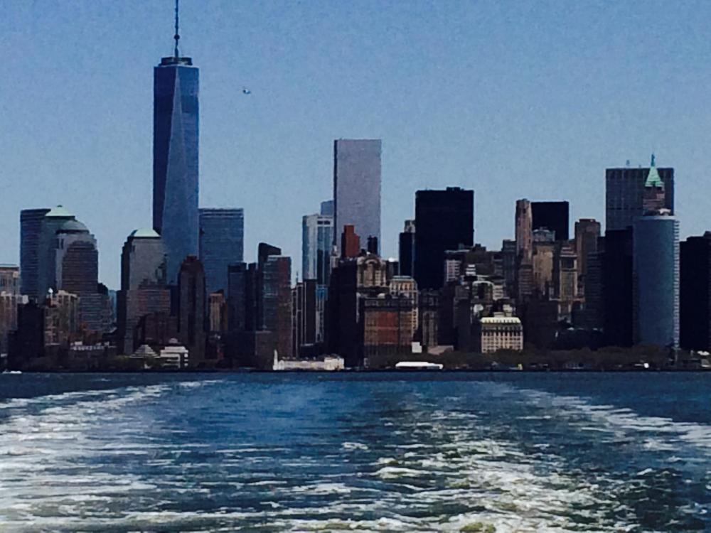 View of Manhattan from the ferry.