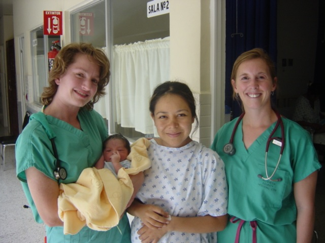 Medspanish students helped deliver a baby!