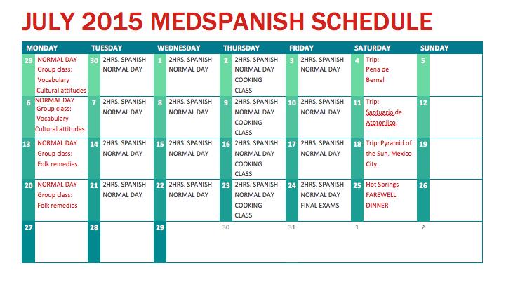 july calendar medspanish sanmigueldeallende