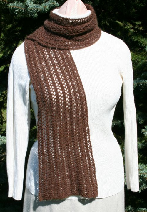 Lace Scarf Knitting Pattern Berry Meadow