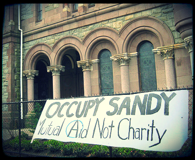 One of Occupy Sandy's distribution hubs