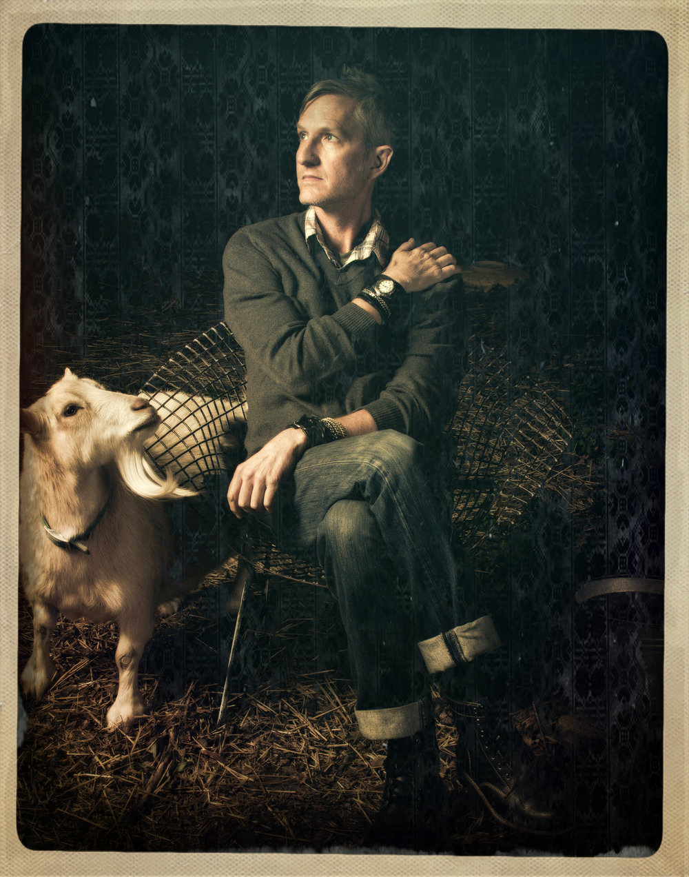 scott crow and pillow goat image