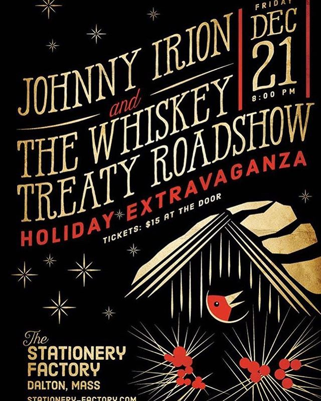 Gonna be a great night in the Berkshires w/ @whiskeytreaty!  #happyholidays